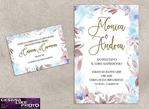Partecipazioni Matrimonio Personalizzate.Partecipazioni Matrimonio Personalizzate Inviti Nozze Fiori