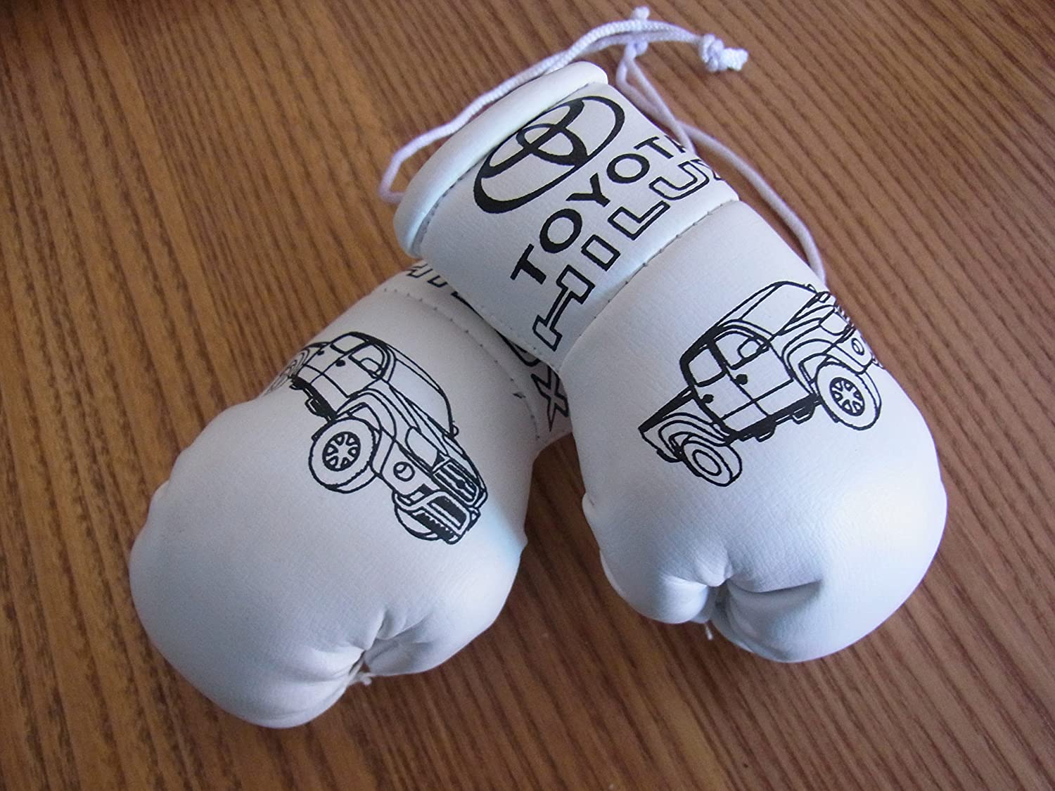 Toyota Hilux Mini Boxing Gloves (Ideal for rear view mirror) MS international