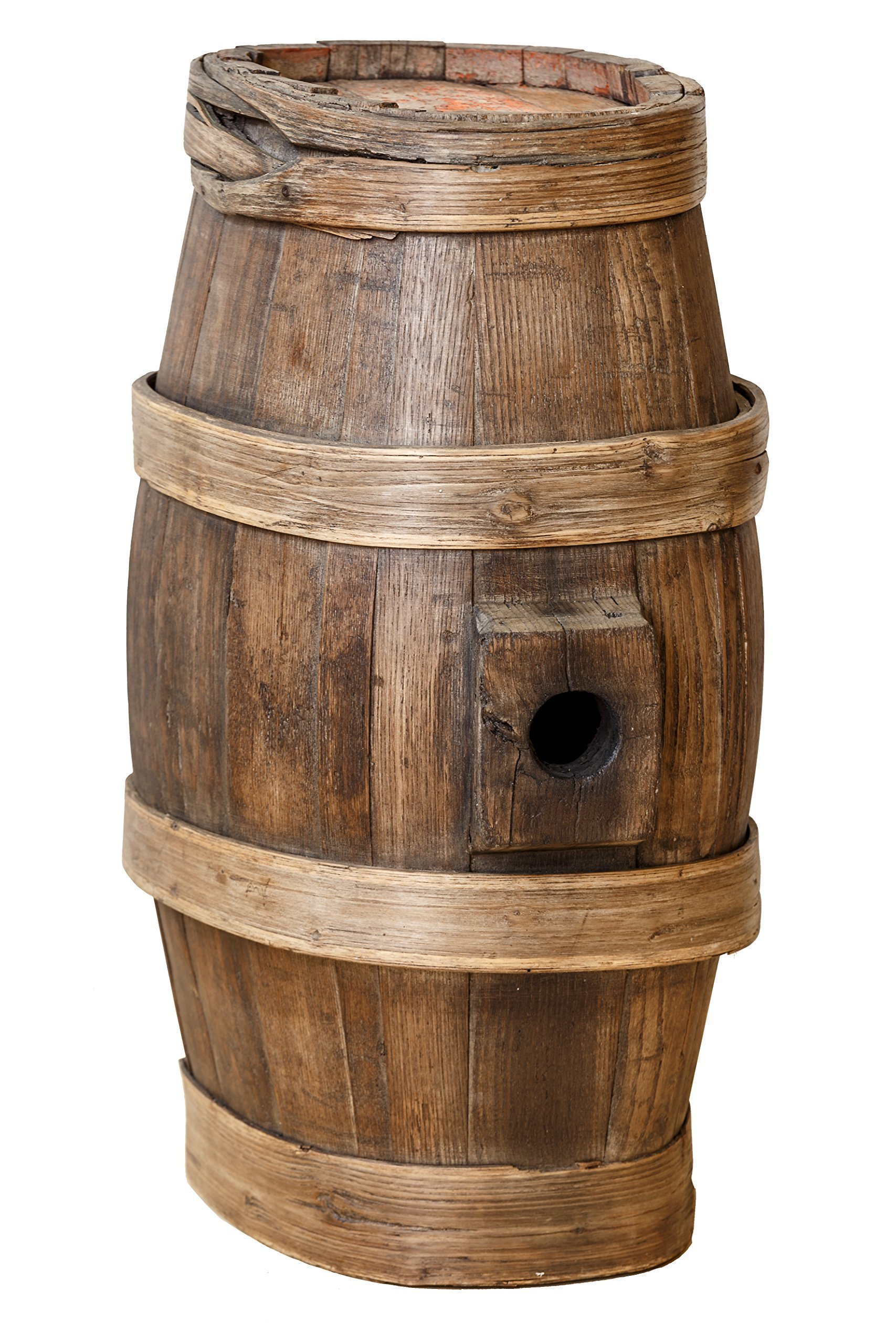 Le Porte del Chianti - Barrel Old Wine Container Can Be Used as a Base for a Table or Lamp Stand etc.