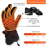 Morvat IMPROVED FOR 2018 Premium Rechargeable Heated Gloves Extra Strength Battery powered for Men & Women