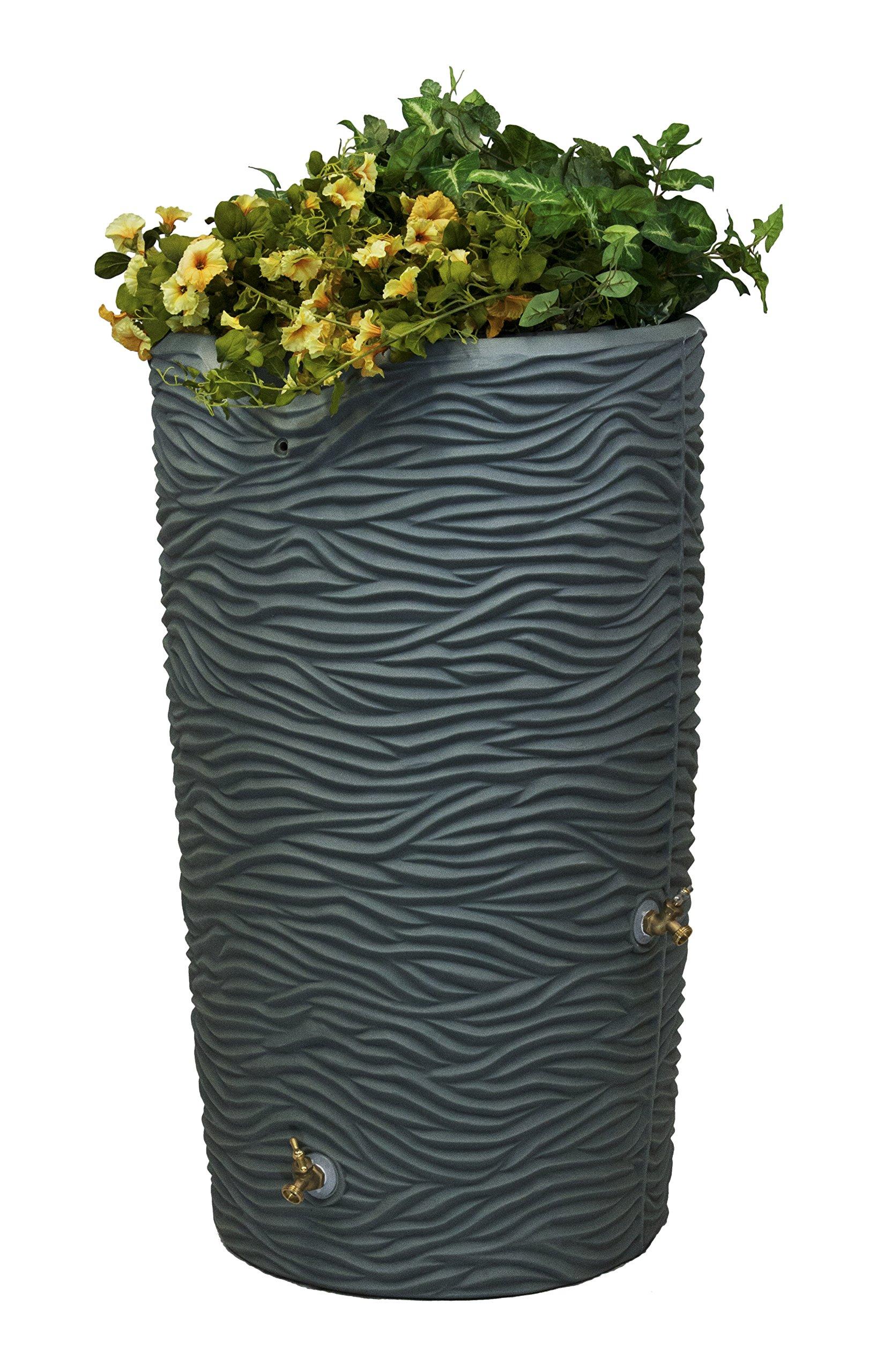 Good Ideas IMP-L65-GRY Impressions Palm Rain Saver, 65-Gallon, Gray