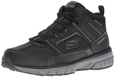 Skechers Sport Men's Geo Trek Oxford,Black/Black/Gray,7 ...