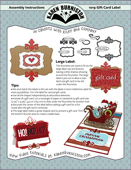 Amazon Com Kb Riley 1019 Karen Burniston Dies Gift Card Label