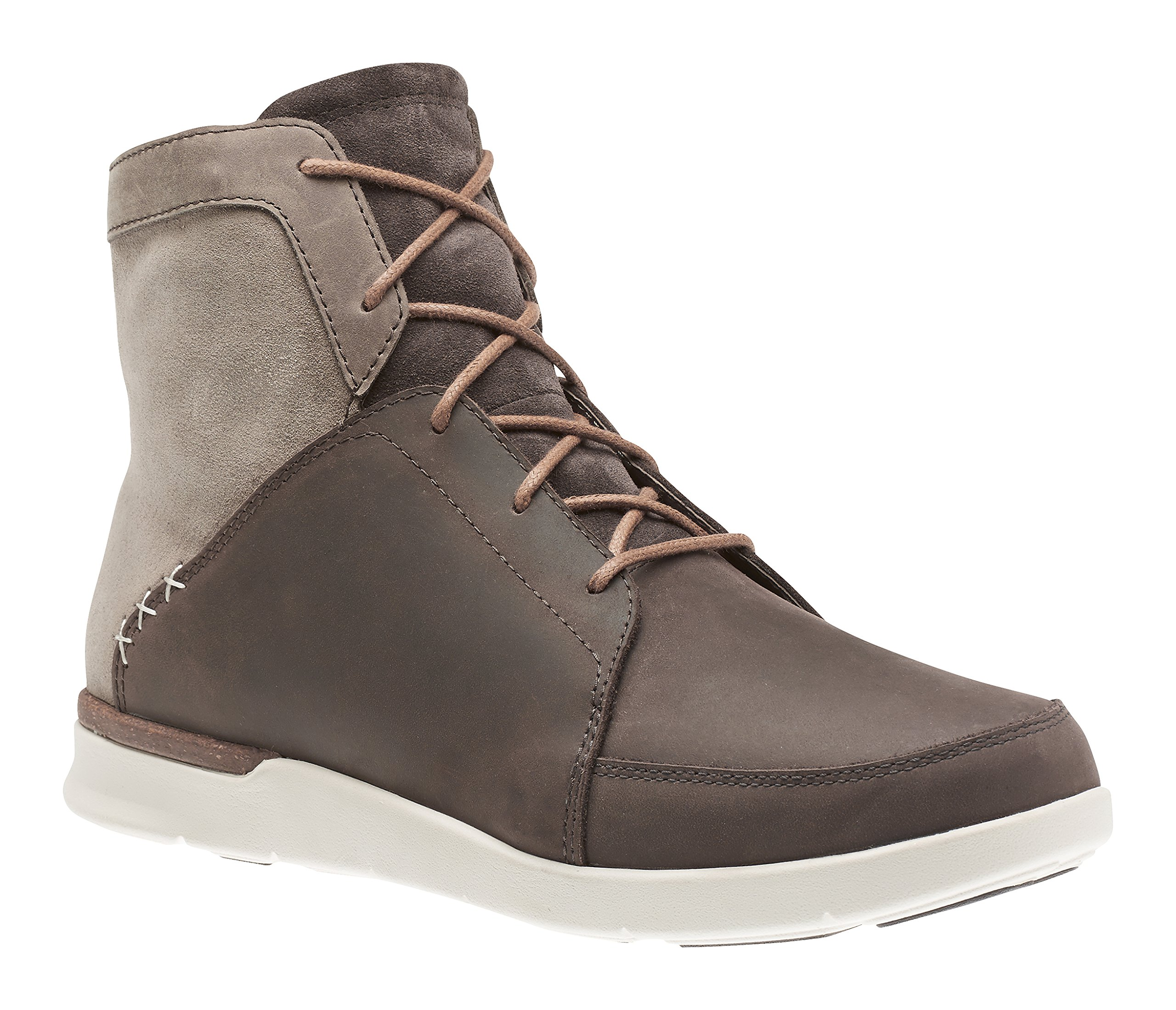 Superfeet Aspen Men's Comfort Casual Boot, Chocolate Brown/Turtledove, Full Grain Leather/Oiled Suede, Men's 9.5 US