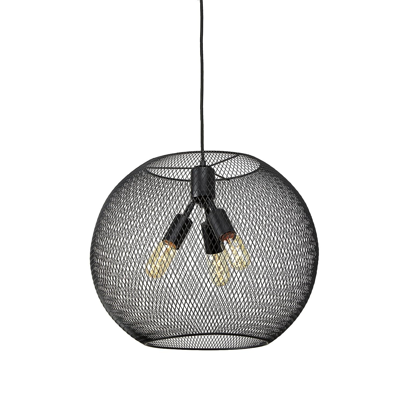 Amazon.com: Industrial Black Mesh Pendant, 3-Light Hanging Ceiling ...