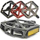 "Lumintrail PD-603B MTB BMX Road Mountain Bike Bicycle Platform Pedals Flat Alloy 9/16"" inch. Comes with Our"