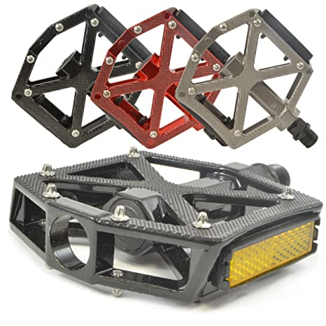 """Review Lumintrail PD-603B MTB BMX Road Mountain Bike Bicycle Platform Pedals Flat Alloy 9/16"""" inch. Comes with our"""