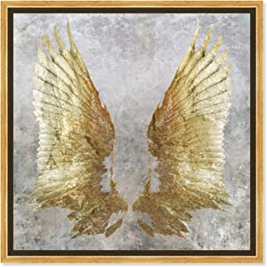 """Oliver Gal My Golden Wings' Framed Fashion Wall Decor, 20"""" x 20"""", Gold"""