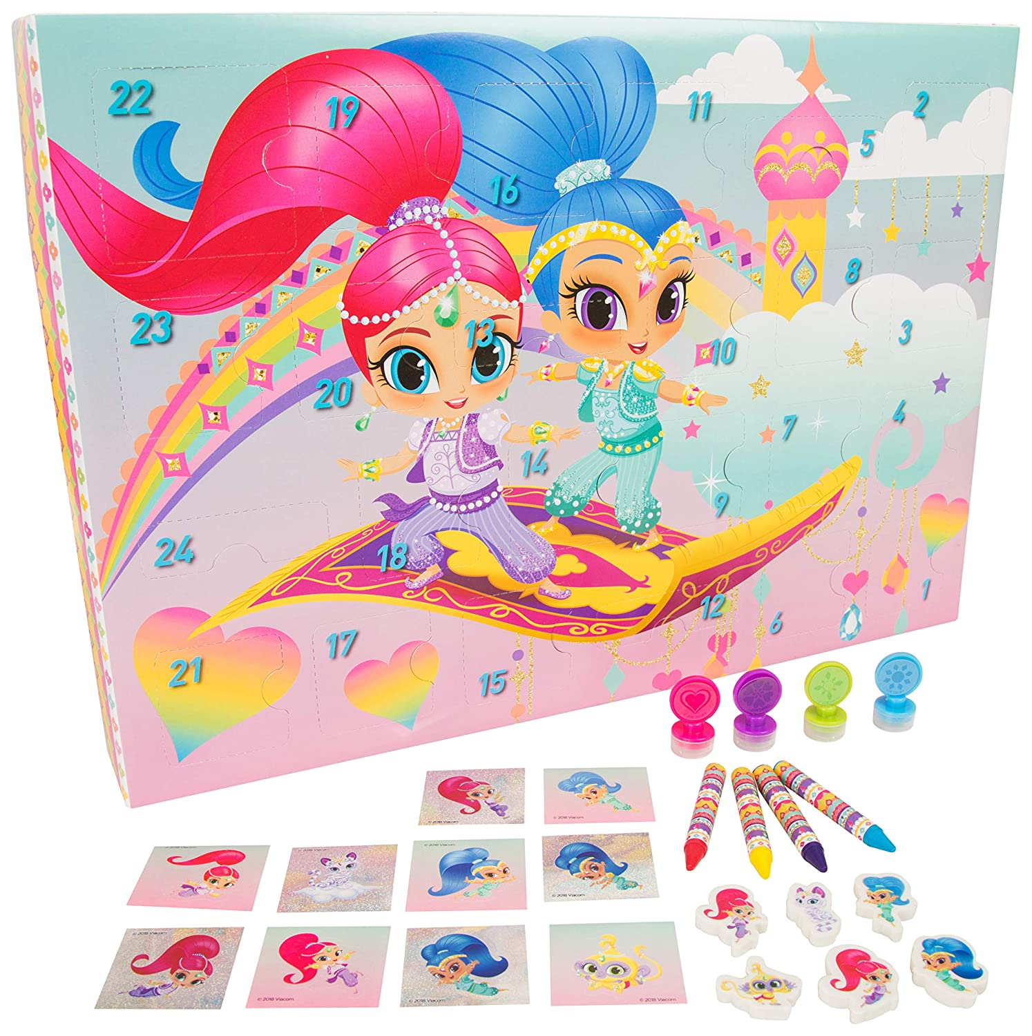 Shimmer and Shine SHI1-6710 Advent Calendar 2018, Multi Colour sambro
