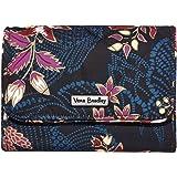 Vera Bradley Women's Performance Twill RFID Riley Compact Wallet, Garden Dream, One Size