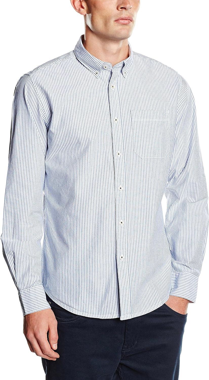 Springfield CC Oxford Rayas Camisa, Blues, S para Hombre ...