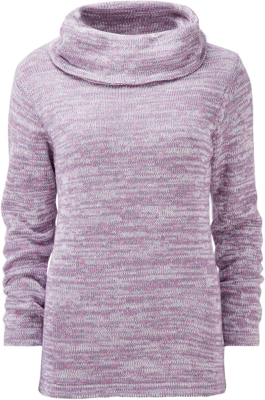 Cotton Traders Womens Ladies Casual Design Regular Fit Plain Cowl Neck Top