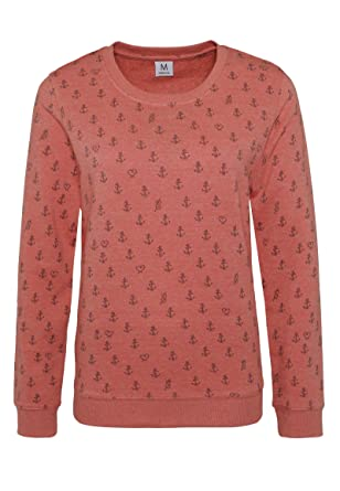 Damen Sweatshirt mit Allover Print