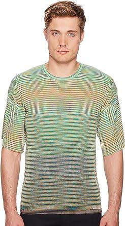 3ca56567c68cbb Amazon.com: Missoni Men's Oversized Pima Cotton T-Shirt Green 50 ...