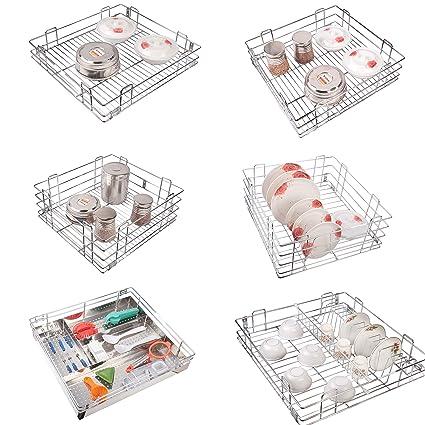 vilezer Modular Kitchen Basket (Set of 6 pcs) Size 15x18 inch Kitchen  Storage Basket - Kitchen Drawer - All Kitchen Cabinet use