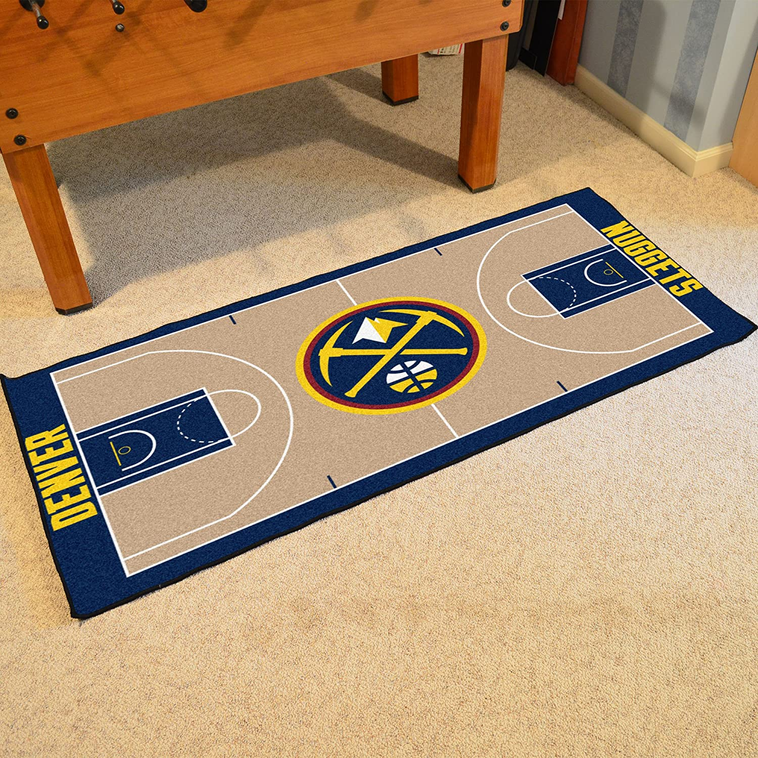 FANMATS NBA Denver Nuggets Nylon Face NBA Court Runner-Small