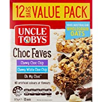 UNCLE TOBYS Muesli Bars Choc Faves, 12 Bars Value Pack, Variety Pack, 375g