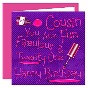 Cousin 21st Happy Birthday Card