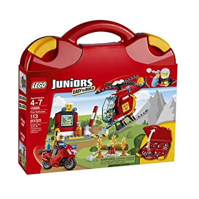 LEGO Juniors Fire Suitcase (10685): Toys & Games