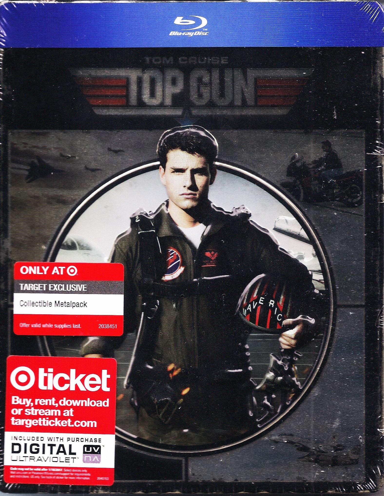 Top Gun (Blu-ray Metalpak) (Target Exclusive Embossed Metalpak; like Steelbook; Very Rare OOP)