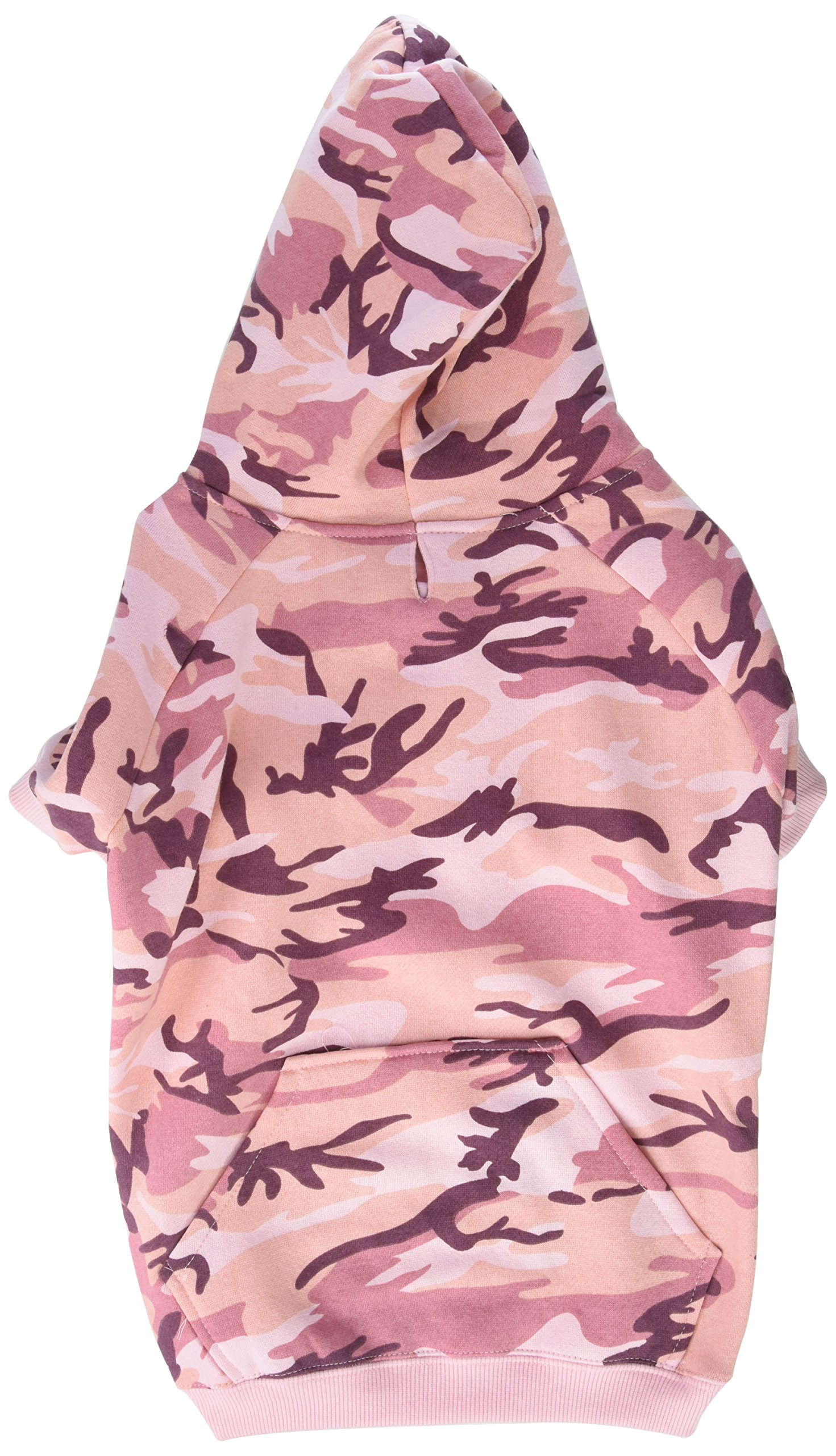 Casual Canine Camo Hoodie for Dogs, 17'' Large, Pink