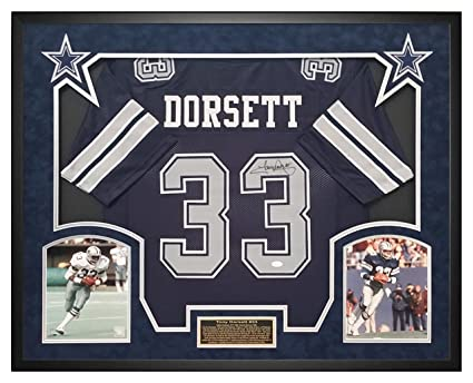 finest selection bc329 41d87 Tony Dorsett Cowboys Custom Jersey Shadow Box Framed JSA ...