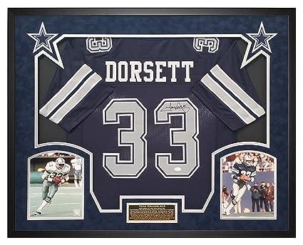 Tony Dorsett Cowboys Custom Jersey Shadow Box Framed JSA Witnessed Signature f102ca29d