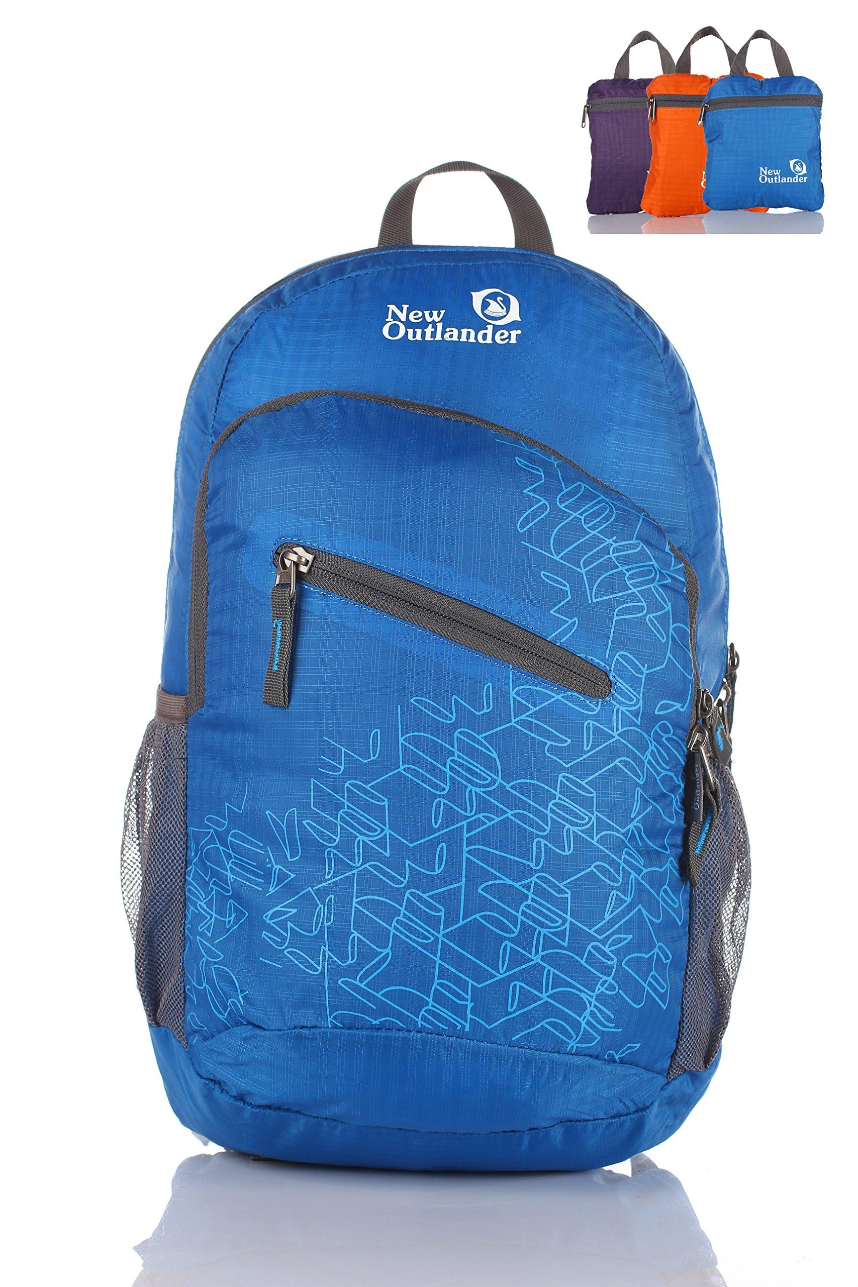 Outlander Packable Handy Lightweight Travel Hiking Backpack Daypack-Dark Blue-L