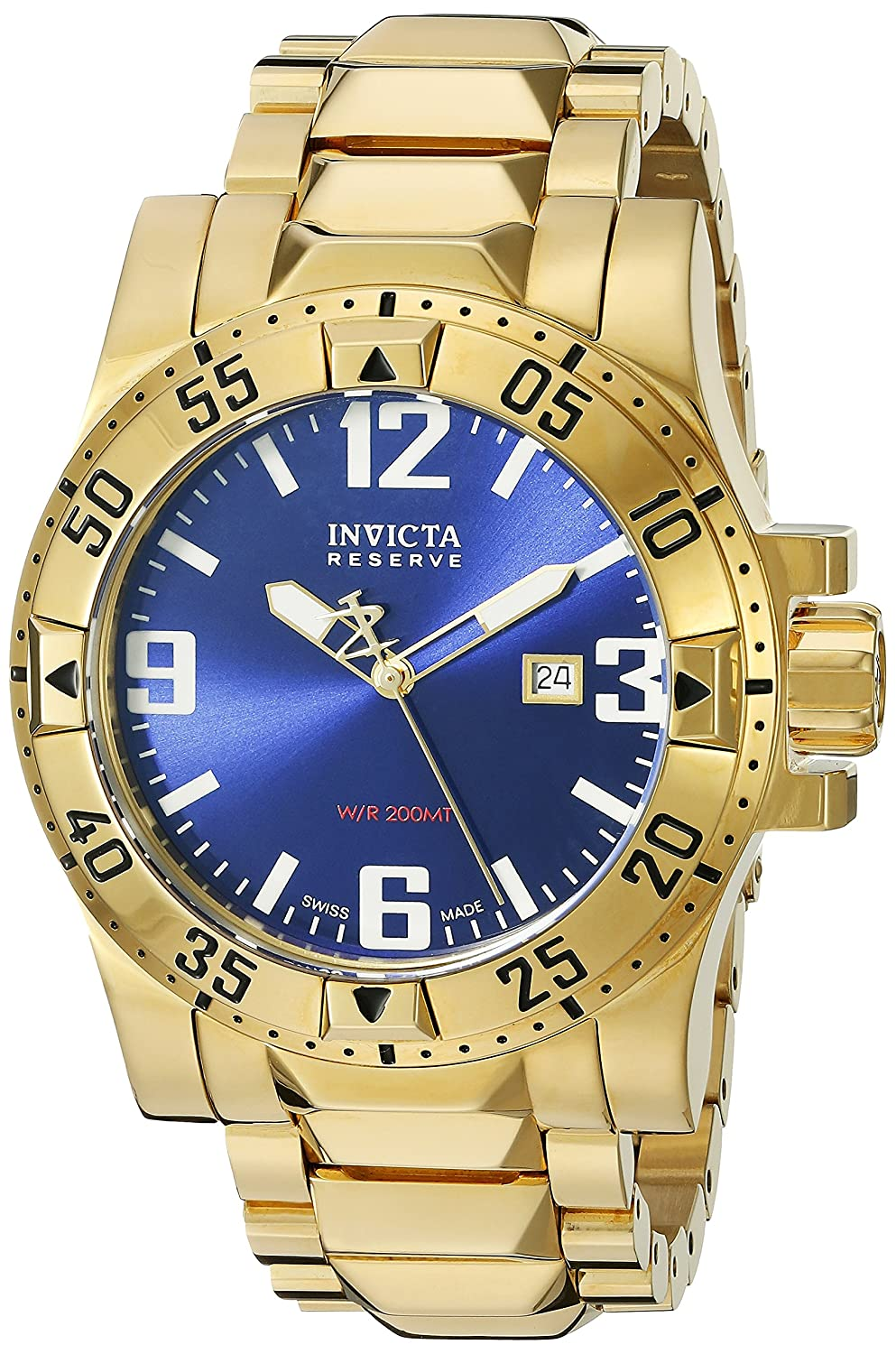 Invicta Men s 6248 Reserve Collection Excursion Edition 18k Gold-Plated Watch