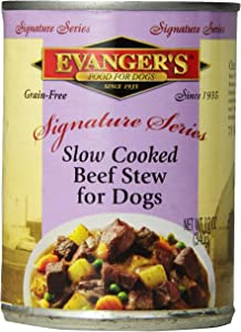 Evangers 776295 12-Pack Sig Series Grain Free Slow Cooked Beef Stew For Dogs, 12-Ounce