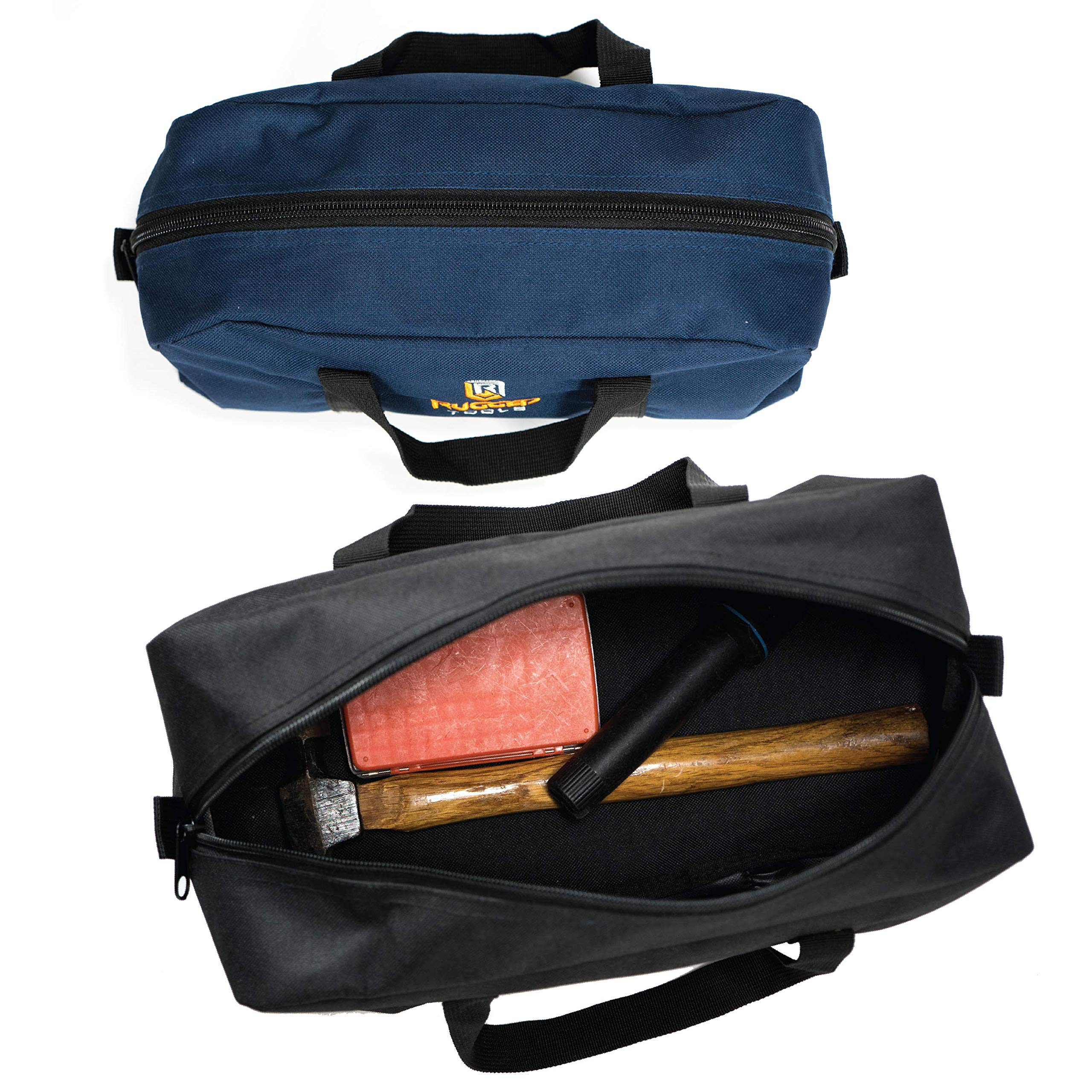 Rugged Tools Tool Bag Combo - Includes 1 Small & 1 Medium Toolbag - Organizer Tote Bags for Electrician, Plumbing, Gardening, HVAC & More by Rugged Tools (Image #6)