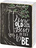 Grow Old Along with Me the Best Is Yet to Be - Wooden Box Sign - Primitives By Kathy - Tree Swing - Romantic - Gift Idea - Wedding Decor
