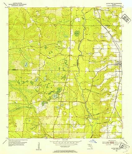 Topographical Map Of Florida.Amazon Com Florida Maps 1952 Altha West Fl Usgs Historical