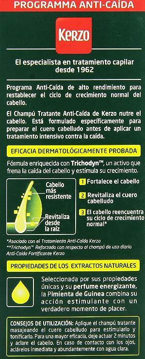 Kerzo Champú Tratante Anticaída - 250 ml: Amazon.es: Belleza