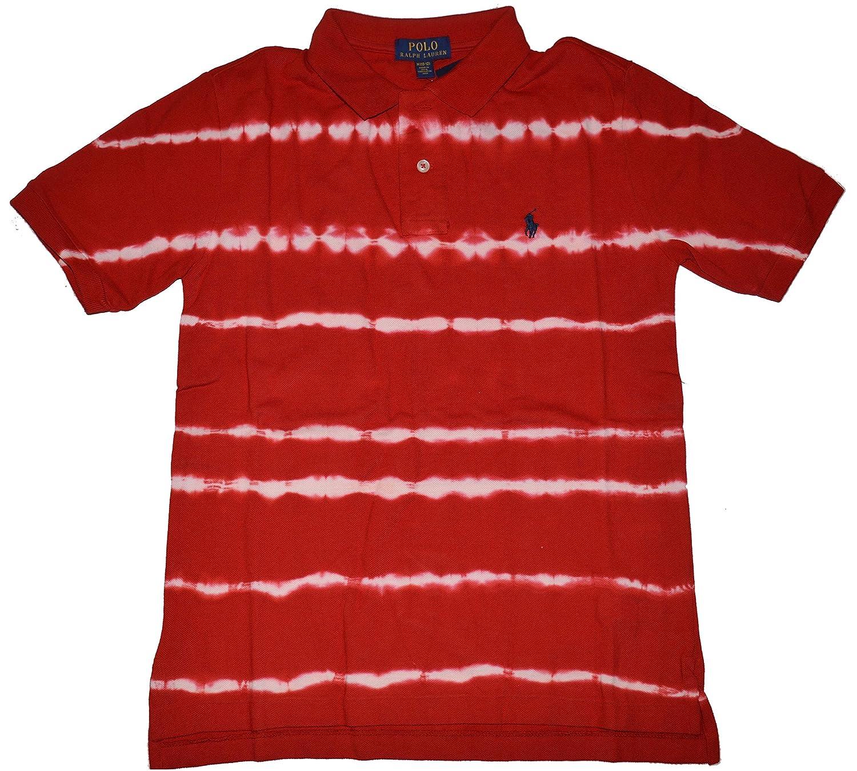 9e9304edee Amazon.com: RALPH LAUREN Boy's Tie-Dye Cotton Mesh Polo Red (S-8 ...