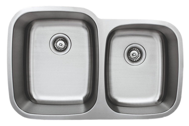 Wells Sinkware CMU3221-97-16-1 Craftsmen Series Stainless Steel Kitchen Sink Package, 32 60 40, Brushed Matte Finish