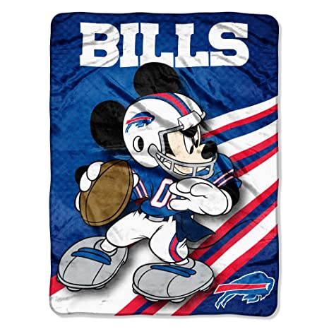 5c419584 NFL Buffalo Bills Mickey Mouse Ultra Plush Micro Super Soft Raschel Throw  Blanket