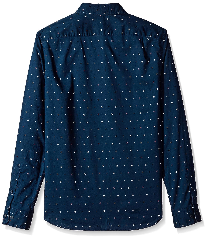 Nautica Classic Fit Long Sleeve Print Pattern Button Down Shirt