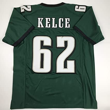 huge selection of cdecc b860a Amazon.com: Unsigned Jason Kelce Philadelphia Green Custom ...