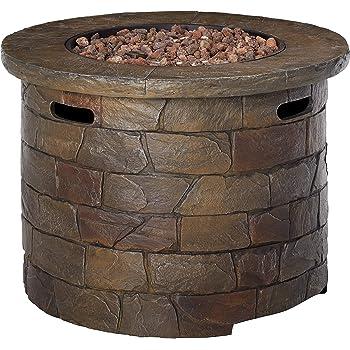 Amazon Com Wine Barrel Propane Fire Table Garden Amp Outdoor
