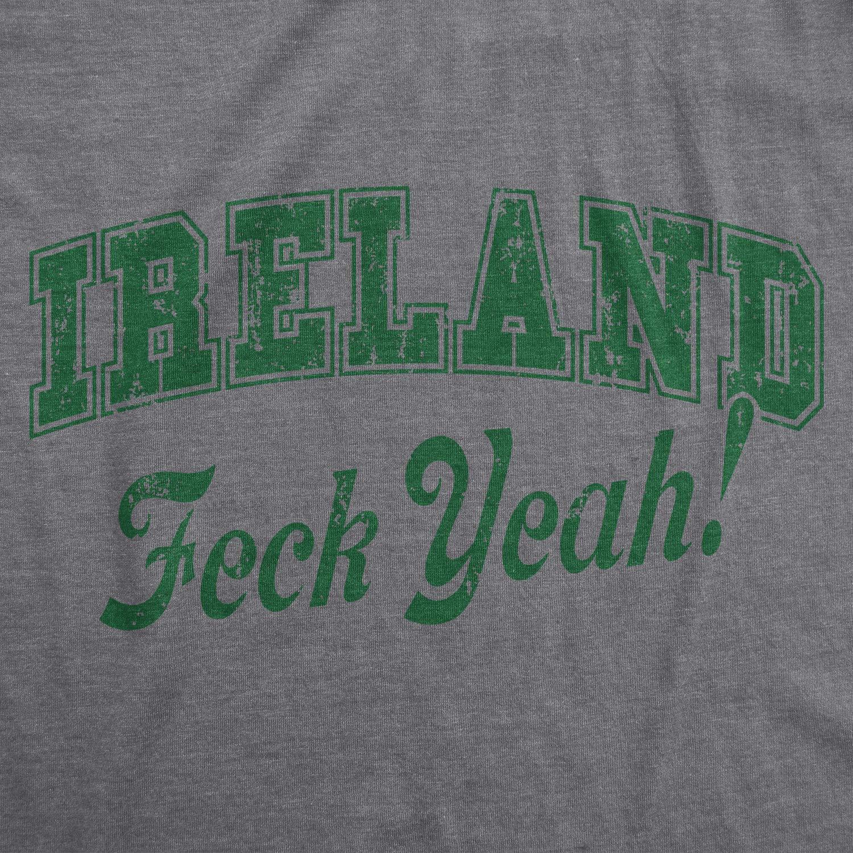 1ab07c206 Amazon.com: Crazy Dog T-Shirts Mens Ireland Feck Yeah Tshirt Funny St  Patricks Day Irish Tee for Guys Heather Grey: Clothing