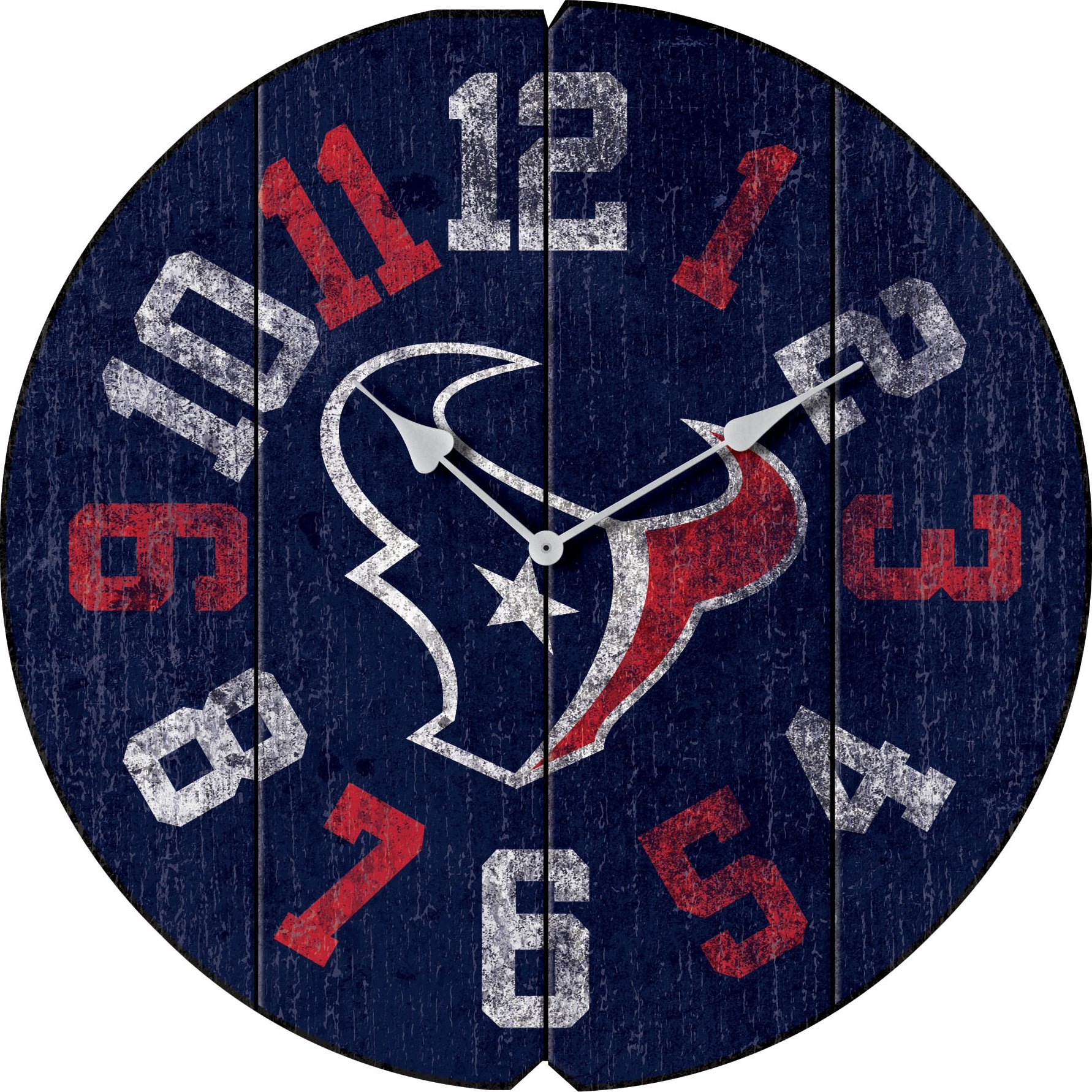 Imperial Officially Licensed NFL Merchandise: Vintage Round Clock, Houston Texans by Imperial