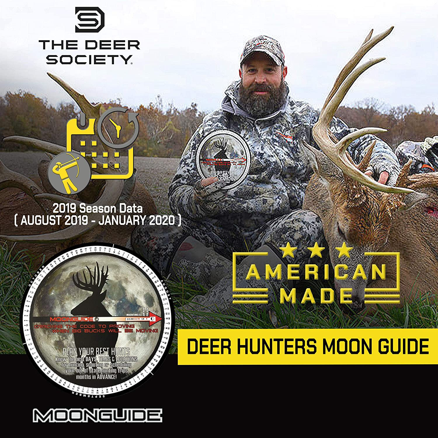 Best Time To Hunt Deer Moon Phase 2020 Amazon.: 2019 Moon Guide for Deer Hunting : Sports & Outdoors