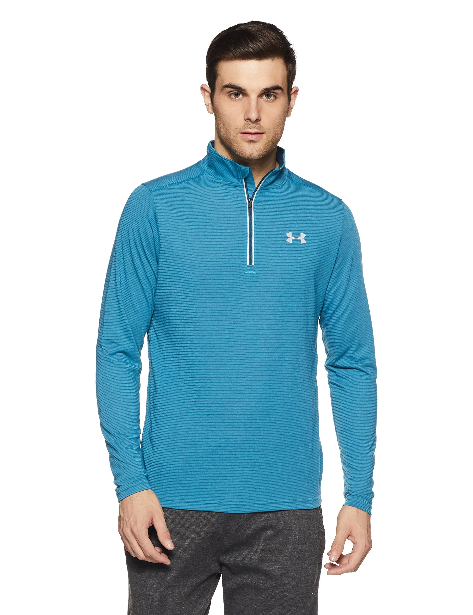 Under Armour Men's Streaker Run 1/4 Zip, Bayou Blue/Reflective, Small by Under Armour (Image #1)