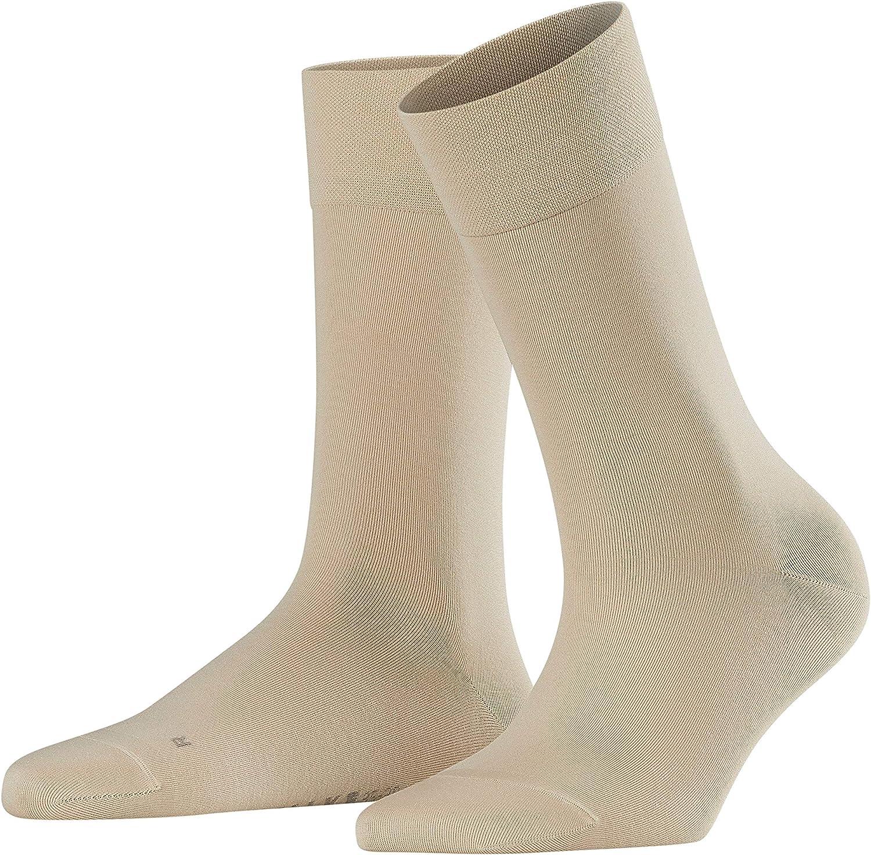 Falke Socken Sensitive Granada Baumwolle Damen Schwarz Weiß Viele Weitere Farben Verstärkte Damensocken Ohne Muster Atmungsaktiv Weit Dünn Einfarbig Für Diabetiker Mit Komfortbund 1 Paar Bekleidung