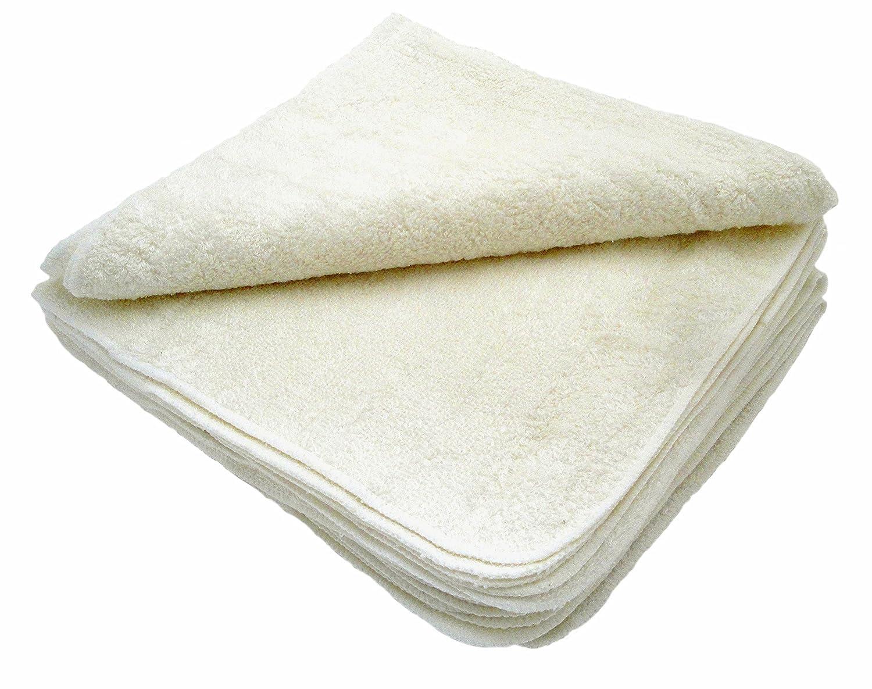 MuslinZ Wipes Lot de 12 lingettes en coton/bambou pour bébé Lavables BAMTS20-12