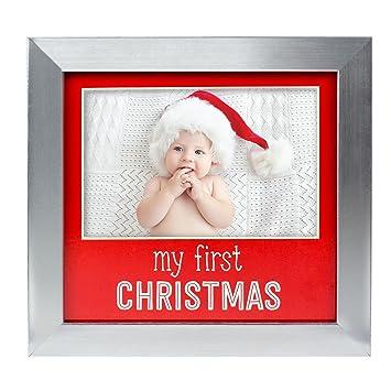 Amazoncom Lil Peach Babys First Christmas Keepsake Photo Frame