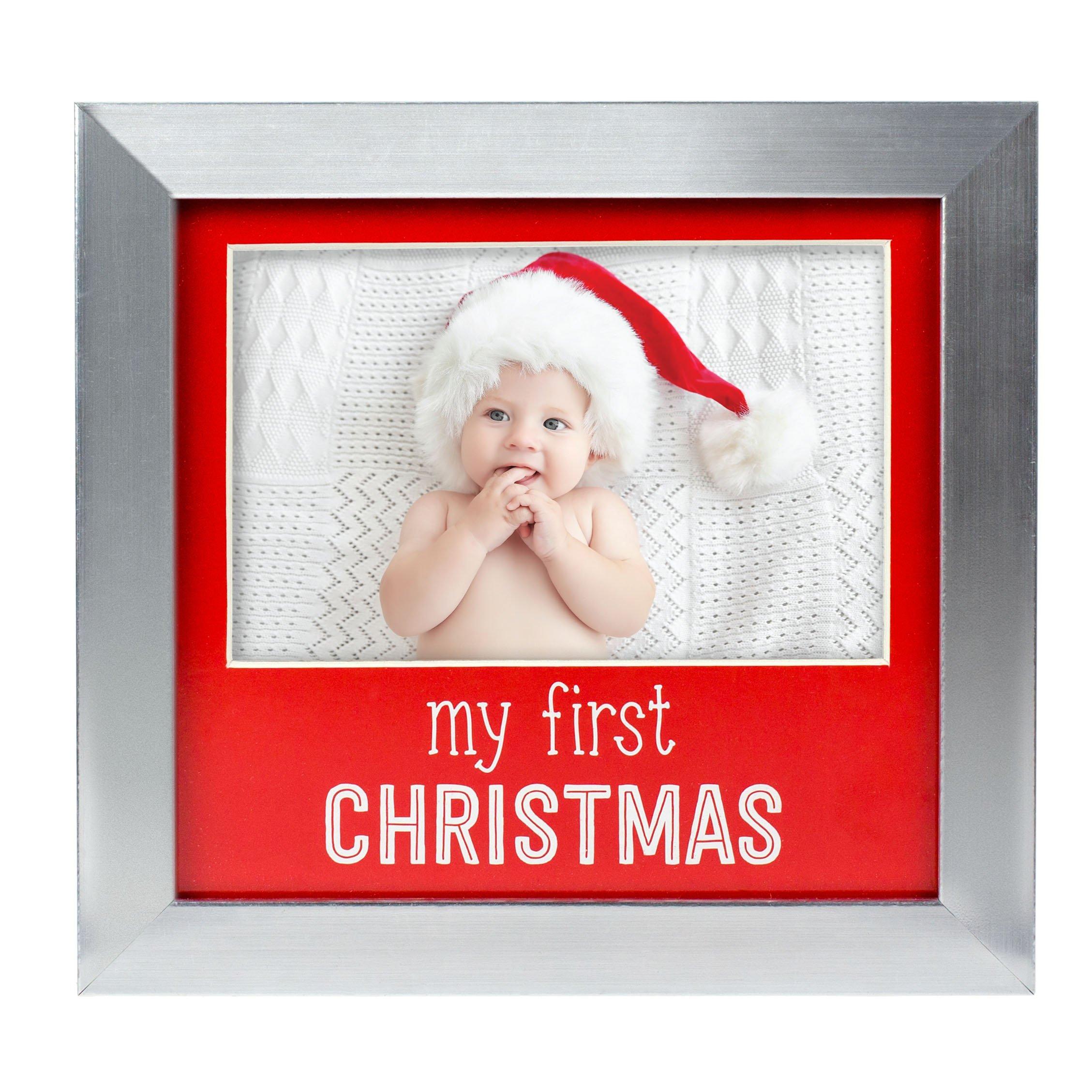 Amazoncom Tiny Ideas Babys First Christmas Holiday Keepsake Photo