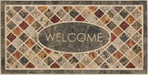 Mohawk Home Ornamental Entry Door Mat, 2 x4, Mineral Stone