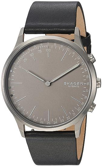 Skagen Reloj Analogico para Hombre de Cuarzo con Correa en Cuero SKT1203: Amazon.es: Relojes